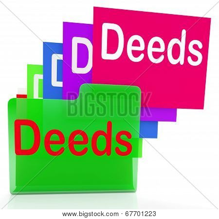 Deeds Files Indicates Document Ownership And Title