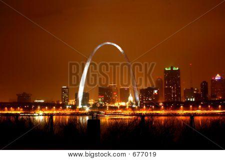 Foggy Night St. Louis Arch