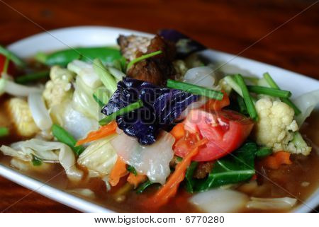 Fried Vegetables Largescale