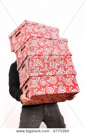 Red Cardboard Boxes