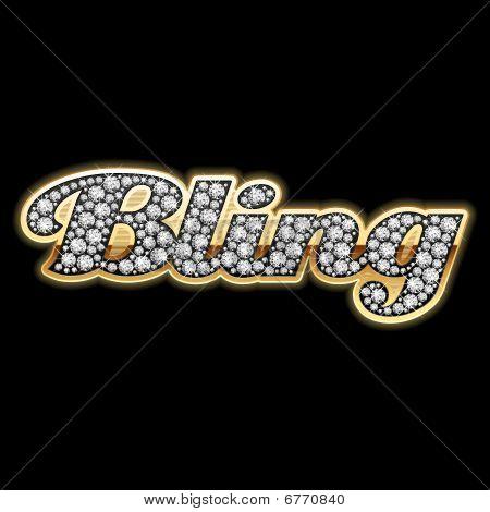 Bling-bling. Diamonds. Detailed vector.