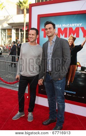 LOS ANGELES - JUN 30:  Jason Landau, Cheyenne Jackson at the