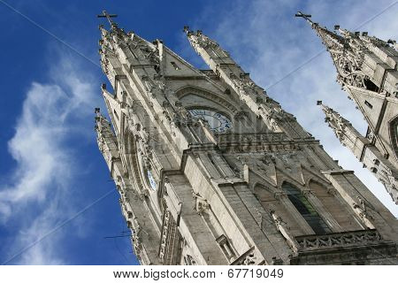 Basilica Tower in Quito Ecuador