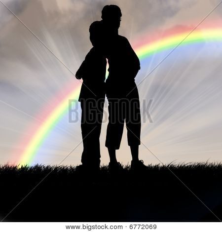 Young Love And Rainbow