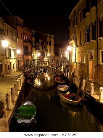 Venice - canal in night