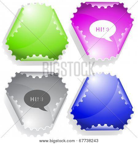 Chat symbol. Raster sticker.