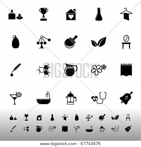 Spa Treatment Icons On White Background