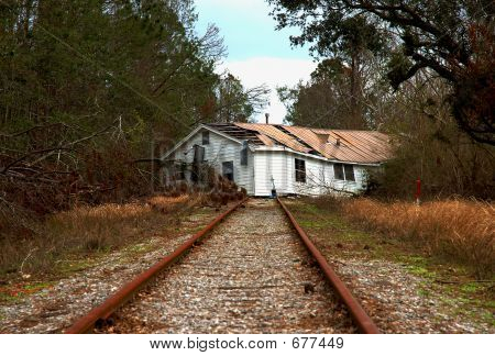 House On RR Tracks