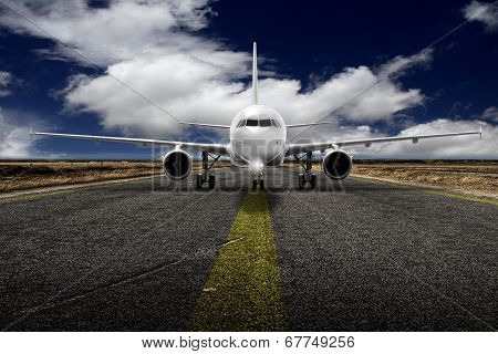 Takeoff Plane In Airport