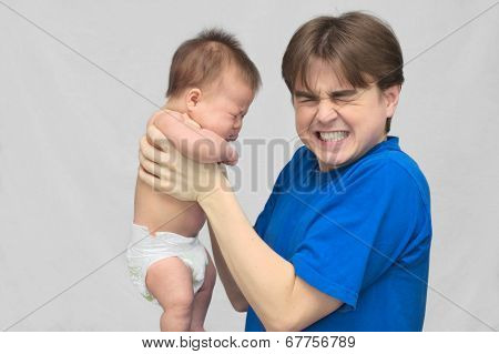 Dad Shocked By Crying Baby
