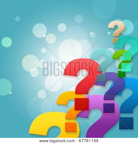 Question Marks Shows Frequently Asked Questions And Asking