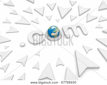 3D Dot Come Text, Arrow Pointing