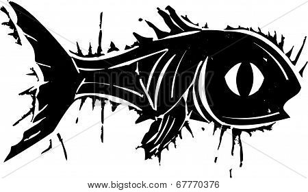 Woodblock Fish