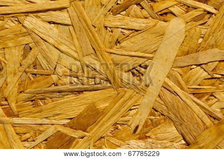 Texture - Reconstituted Wood Panel, Close Up. Oriented Strand Board Osb