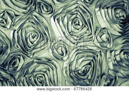 Fabric Roses Background, Vintage Style