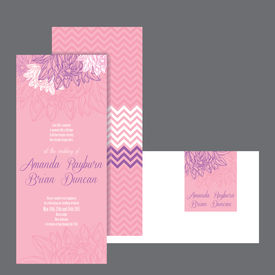 Set of wedding invitations card