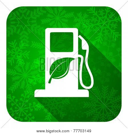 biofuel flat icon, christmas button, bio fuel sign  poster