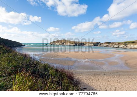 Porth beach Newquay Cornwall England UK