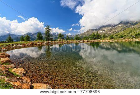 Trentino - Small Lake In Pejo Valley