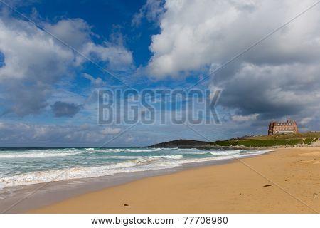 Fistral beach Newquay North Cornwall England UK