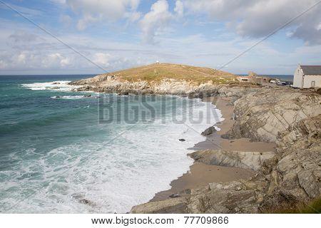 Newquay coast Cornwall England UK at Towan Head
