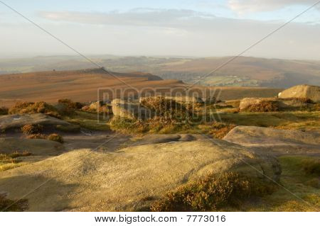 Early Morining On Hathersage Moor In The Derbyshire Peak District