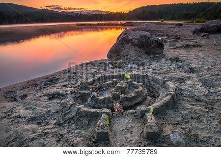 Sand Castle Sunset