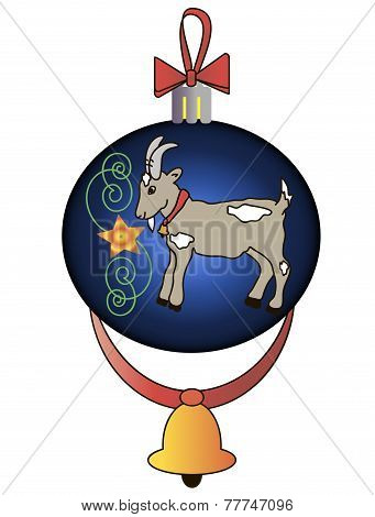 Christmas toys with a goat