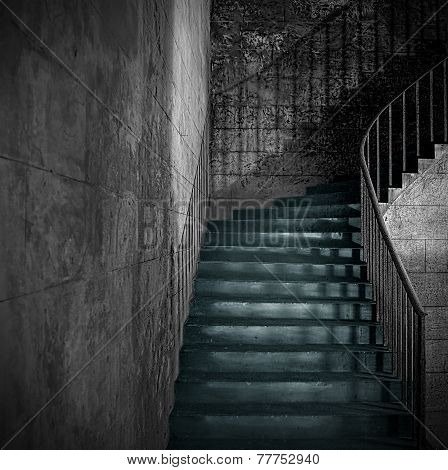 Monochrome Ancient Staircase