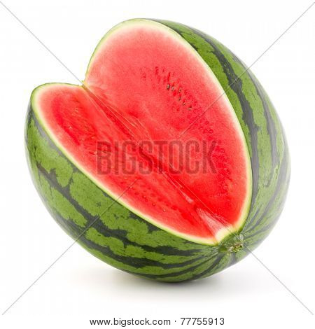 Sweet watermelon isolated on white background cutout poster