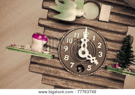 Cuckoo Wall Clock, Three O'clock