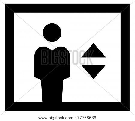 Elevator icon poster