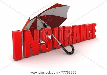 Insurance under Umbrella (clipping path included)