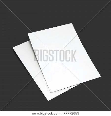 Magazine, booklet, postcard, flyer, business card or brochure mockup template. Vector Illustration EPS10. poster