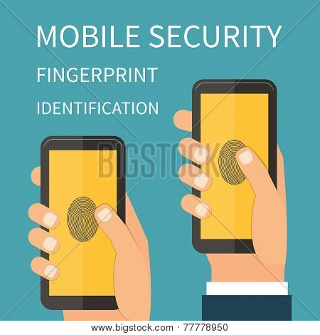 Mobile Internet Secutiry, fingerprint identification