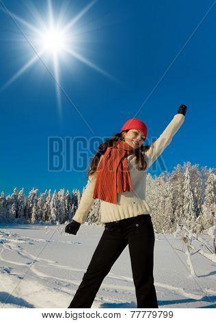 Midwinter Sunshine Enjoying the Snow