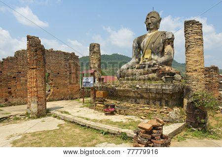 Relics of Wat Piyawat temple, Xiangkhouang province, Laos.