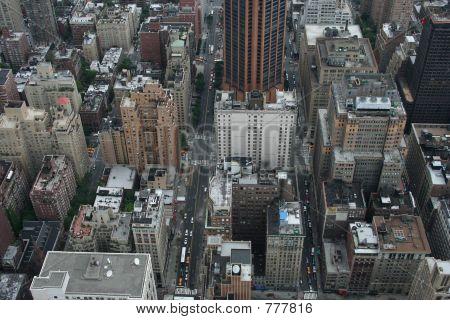 ariel view of buildings