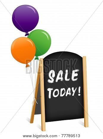 Sign, Sale Today, Chalk Board Easel
