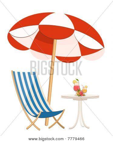 Mooie zomerse strand