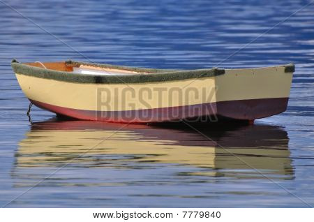 Isolated rowing boat
