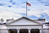 Presidential White House Fence Fountain Pennsylvania Ave Washington DC poster