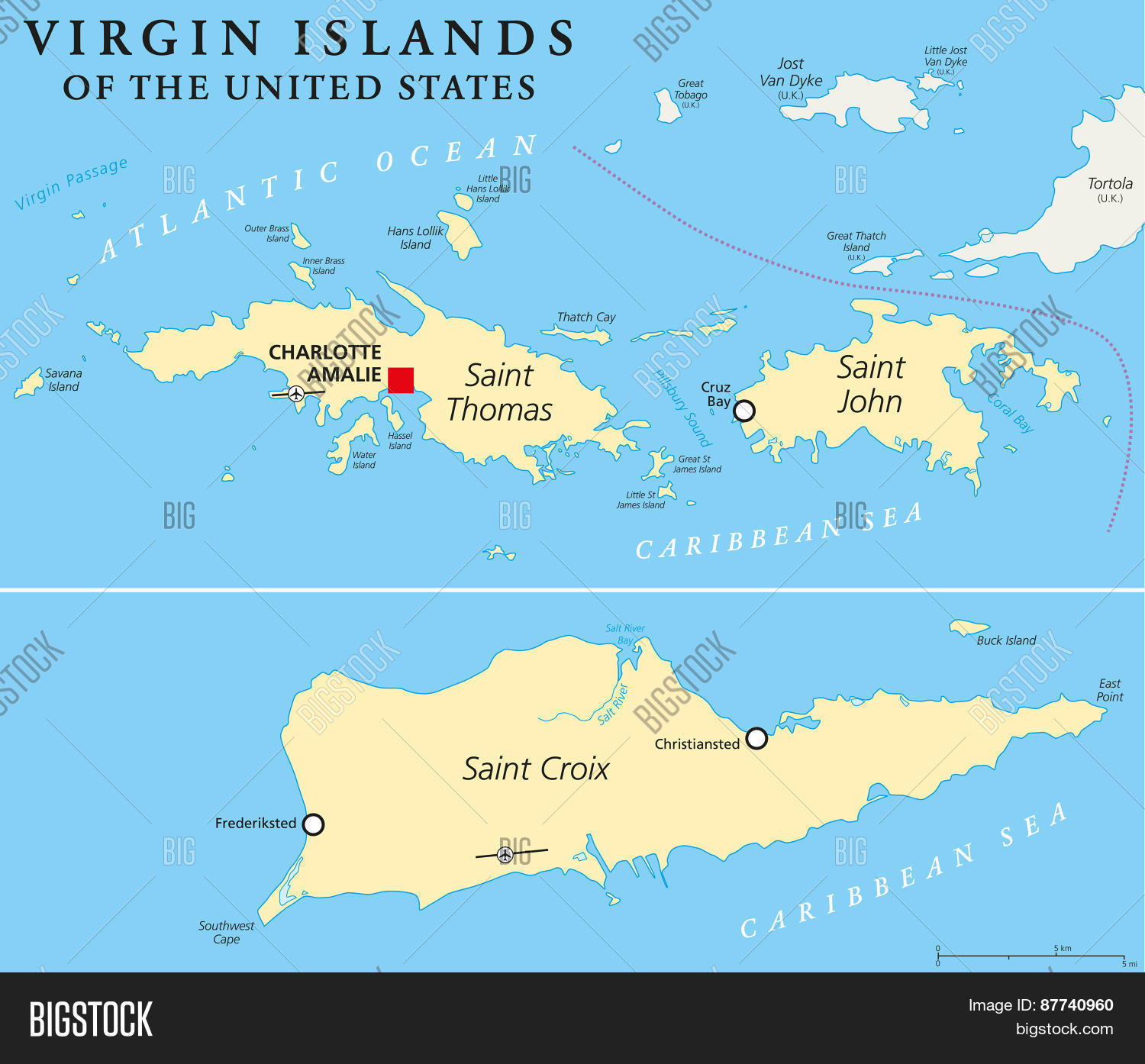 United States Virgin Vector Photo Free Trial Bigstock - Large-map-of-us-virgin-islands
