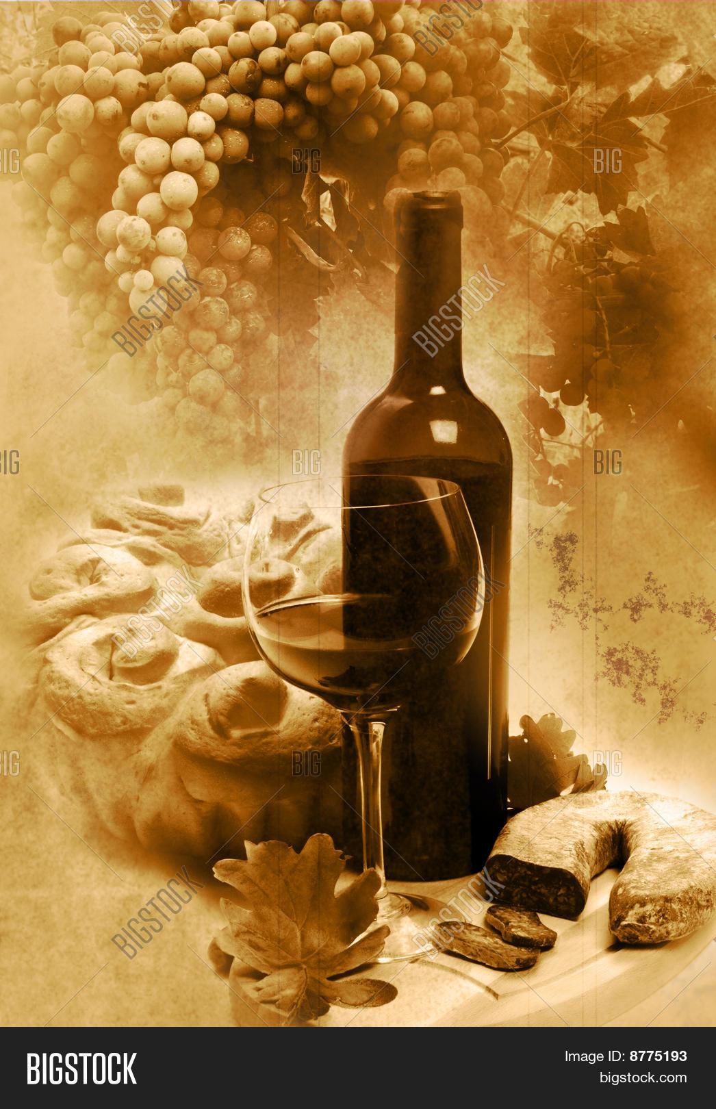 Vintage Wine Background Image & Photo | Bigstock