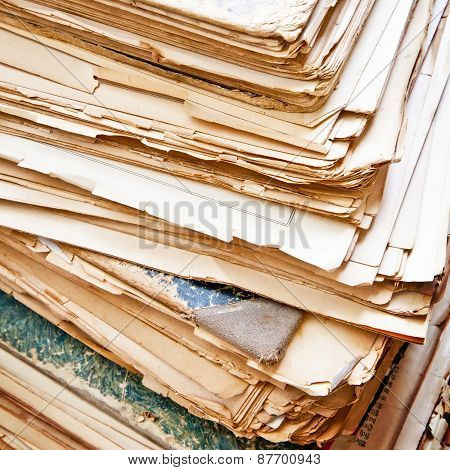 Heap of old papers