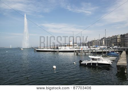 Fountain in Lake Geneva