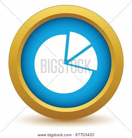 Gold pie chart icon