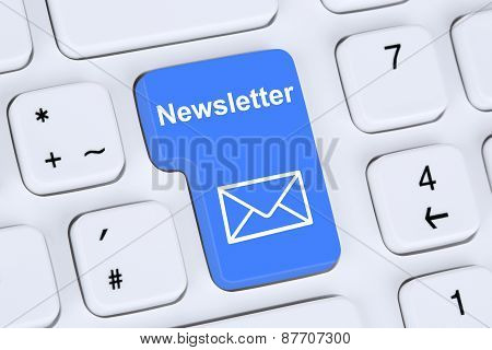 Sending Newsletter On Internet For Business Marketing Campaign