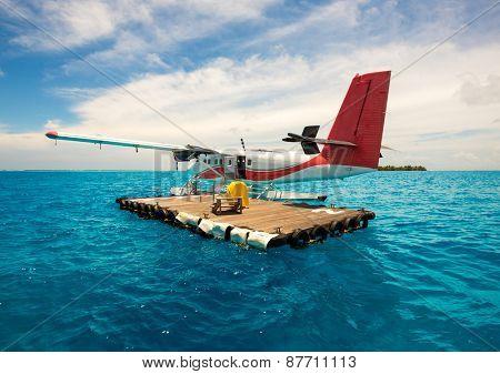 Seaplane for tourists Maldives indian ocean