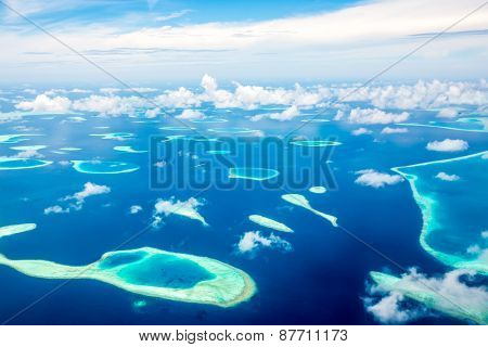 Hotel on the island. Maldives Indian Ocean